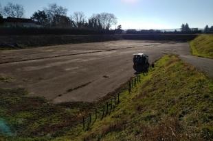 1ere campagne d'analyses de terrain - Décembre 2017 - ANR Frog - Bassin de rétention Grange Blanche ( (c) ISA )